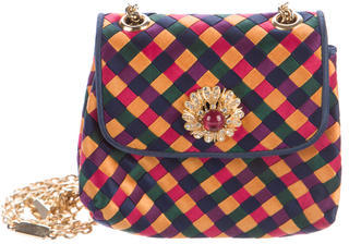 Bottega VenetaBottega Veneta Intrecciato Satin Mini Bag