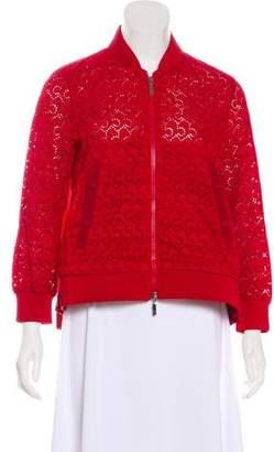 Moncler Lace Zip-Up Jacket