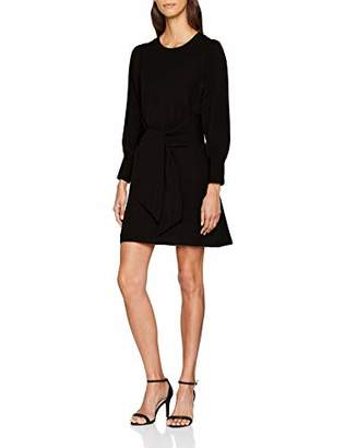 PepaLoves Women's Penny Tied UP Dress Black 0, ('s Size:Small)