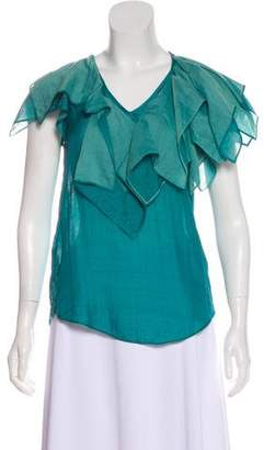 HUGO BOSS Boss by Sleeveless Ruffle Top