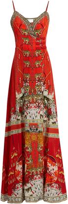 CAMILLA Hangzhou Hollywood-print silk wrap dress $600 thestylecure.com