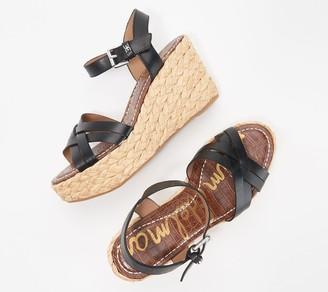Sam Edelman Leather Braided Wedge Sandals - Darline