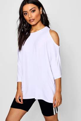 boohoo Oversized Cold Shoulder T-Shirt