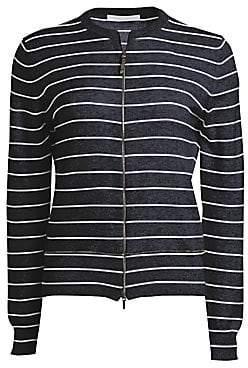 Fabiana Filippi Women's Zip-Up Striped Cashmere Cardigan
