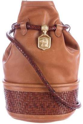 Kieselstein-Cord Dog Charm Bucket Bag