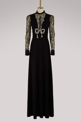 Gucci Crystal bow dress with lace detail