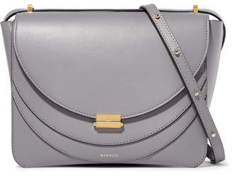 Wandler - Luna Leather Shoulder Bag - Gray
