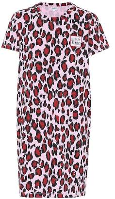 Kenzo Leopard cotton T-shirt dress