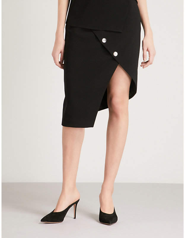 Paul asymmetric crepe skirt