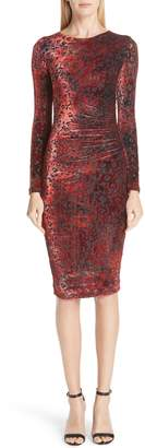 Fuzzi Leopard Burnout Velvet Dress