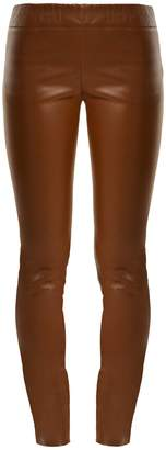 The Row Docarr skinny leather trousers