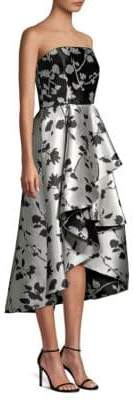 Shoshanna Isabell Strapless High-Low Dress