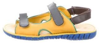 Dolce & Gabbana Boys' Leather Velcro Sandals yellow Boys' Leather Velcro Sandals