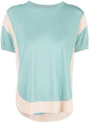 Tsumori Chisato color-block short-sleeve top