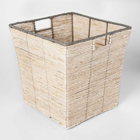 Pillowfort Square Woven Basket Natural