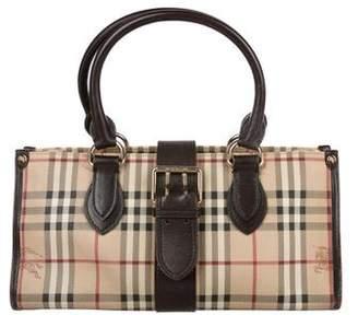 Burberry Leather-Trimmed Horseferry Shoulder Bag