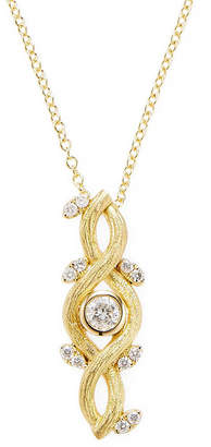 Artisan Yellow Gold Floral Diamond Necklace