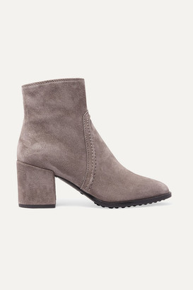 Tod's Selleria Suede Ankle Boots - Gray