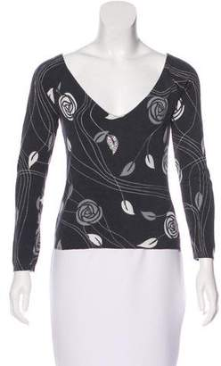 Blumarine Knit Long Sleeve Top