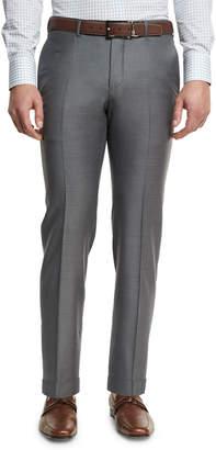 Ermenegildo Zegna Trofeo Flat-Front Trousers, Gray