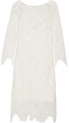 Rime Arodaky - Parati Guipure Lace Midi Dress - White $380 thestylecure.com