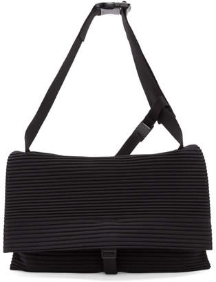 Issey Miyake Homme Plisse Black Pleated Flat Bag