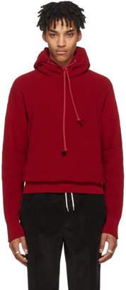 Maison Margiela Red Knit Hoodie