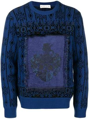 Etro contrasting knit sweater