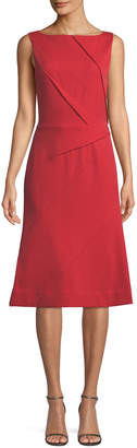 Narciso Rodriguez Sleeveless Pleated Front Midi Dress