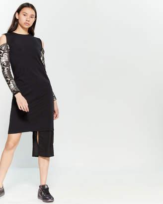 Numero 00 Cold Shoulder Sequin Tank Dress