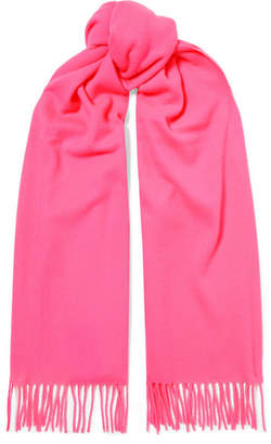 Acne Studios Canada Fringed Wool Scarf - Pink