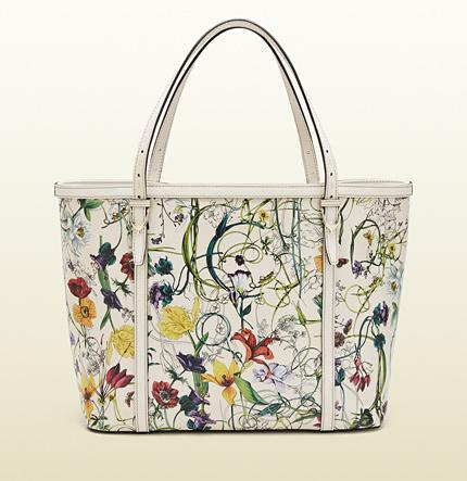 Gucci Nice Mini Infinity Flora Leather Tote