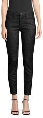 Hudson Jeans Nico Mid-Rise Sparkle Skinny Jeans