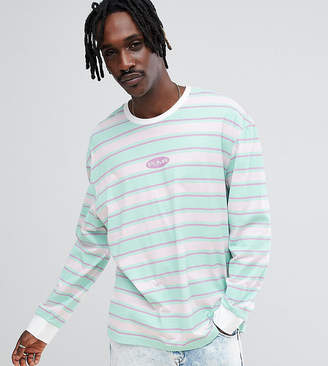 Puma Organic Cotton Retro Stripe Long Sleeve T-Shirt In Pink Exclusive To ASOS