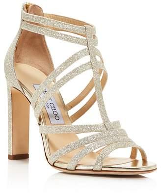 Jimmy Choo Women's Selina 100 Glitter High-Heel Sandals