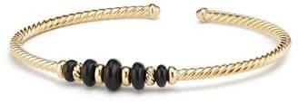 David Yurman Rio Rondelle 18K Gold Cabled Cuff Bracelet