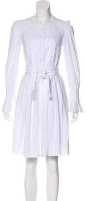 Co Pleated Knee-Length Dress