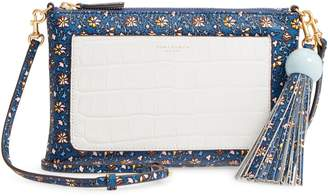 Tory Burch Tassel Print Leather Crossbody Bag