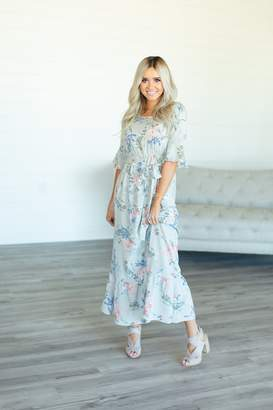 Kerri Floral Ruffle Dress