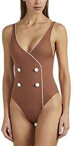 Solid & Striped WOMEN'S JULIETTE TUXEDO-STYLE ONE-PIECE SWIMSUIT - BROWN SIZE XS
