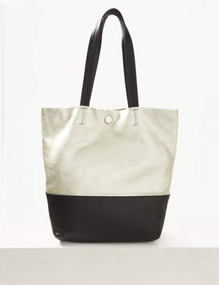 f7e4004557 M&S CollectionMarks and Spencer Leather Metallic Shopper Bag
