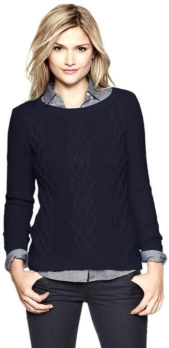 Gap Cable boatneck pullover