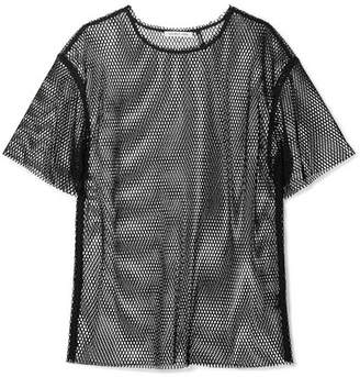 Helmut Lang Courtney Fishnet T-shirt - Black
