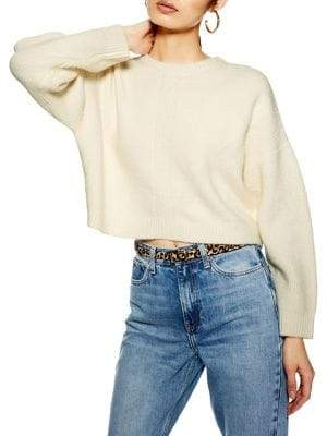 Topshop Super Soft Ribbed Crop Sweater