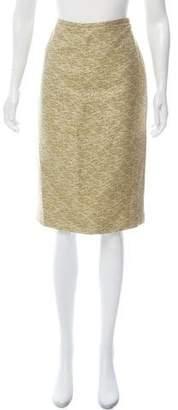 Barneys New York Barney's New York Textured Knee-Length Skirt