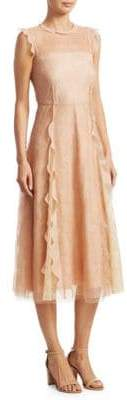 RED Valentino Ramage Lace Midi Dress