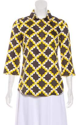 Tory Burch Silk Printed Blouse