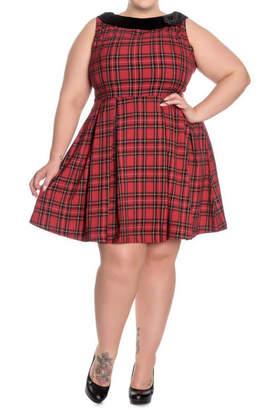 Hell Bunny Eleanor Tartan Dress