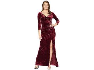 Adrianna Papell Long Velvet Dress
