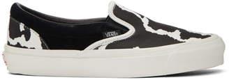 Vans Black and White Cow OG Classic Slip-On Sneakers